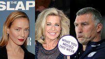 Uma Thurman, Katie Hopkins and Nigel Pearson