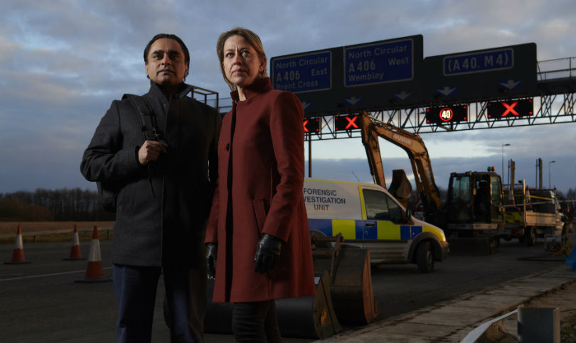 Unforgotten series 3 - Sanjeev Bhaskar and Nicola Walker