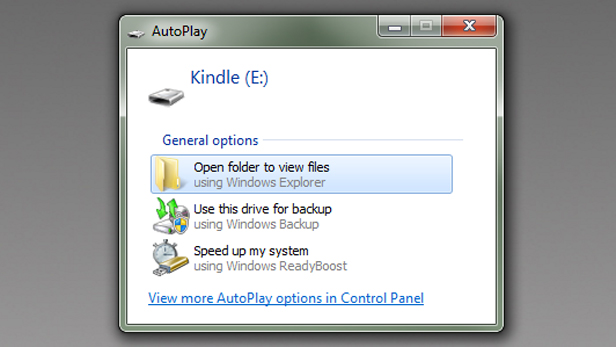 Updating your Kindle device from a PC