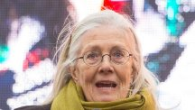 Vanessa Redgrave speaks at a rally in London involving thousands of junior doctors and their supporters