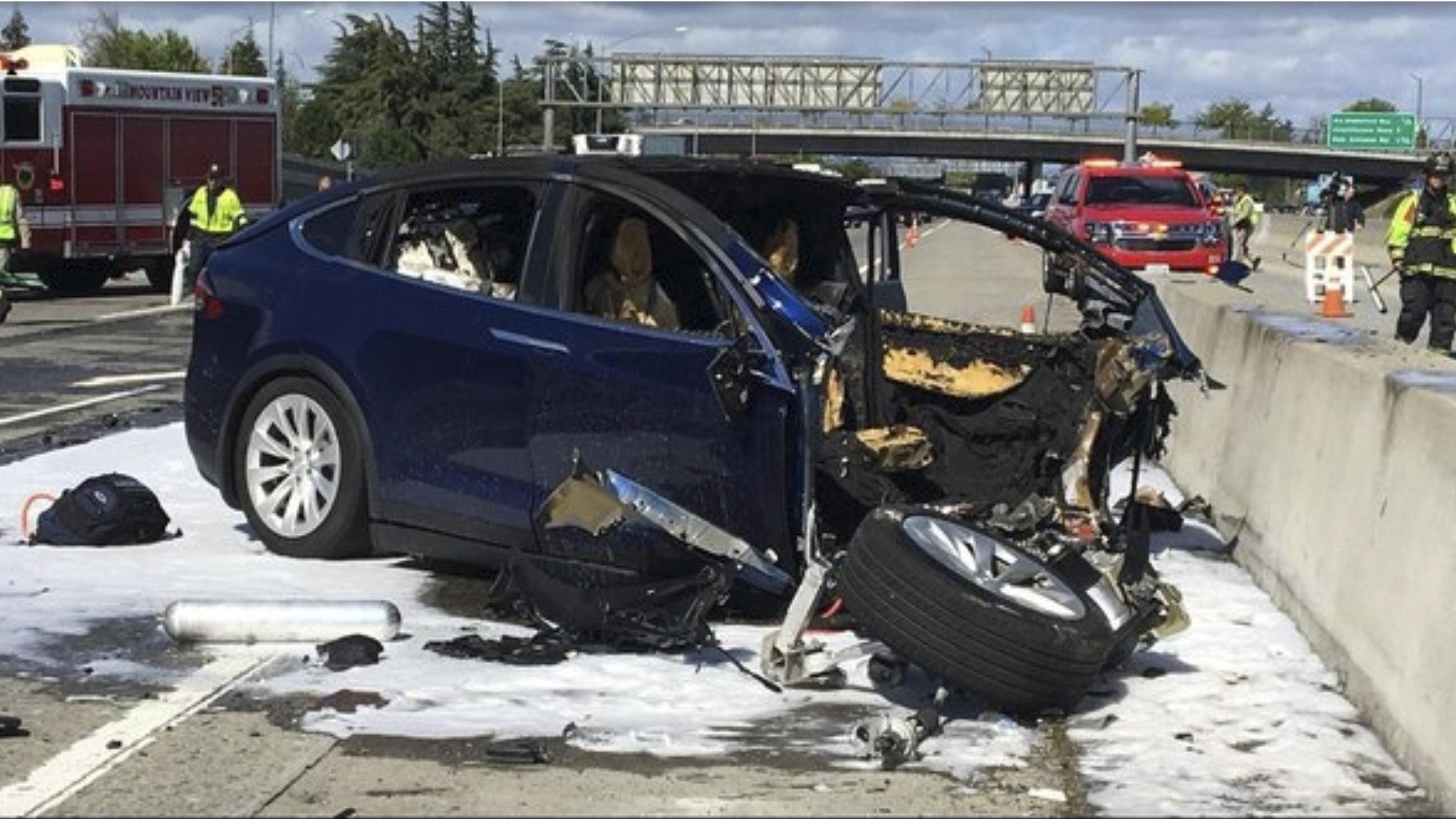 Tesla Car Involved In Crash