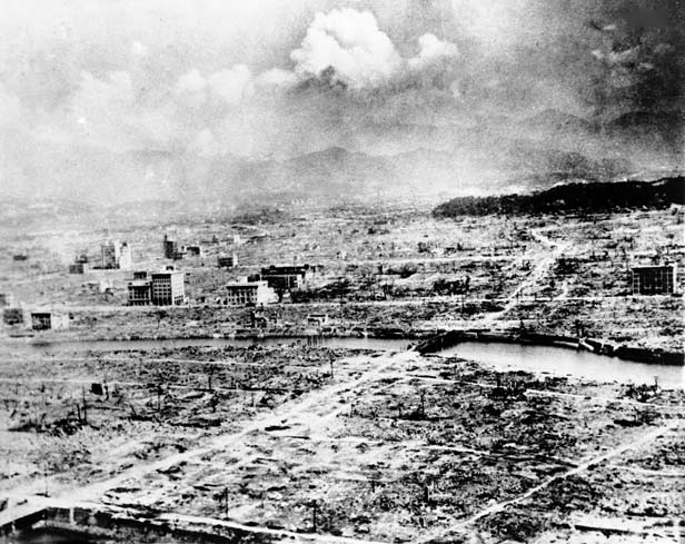 This view of Hiroshima shows the destruction wrought by the atom bomb.