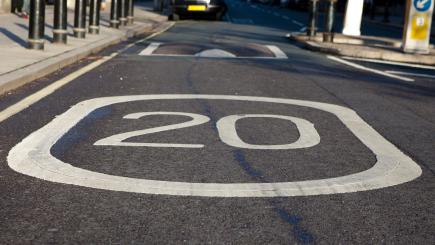 Virtual speed bumps have been created on London's roads to try and slow down drivers