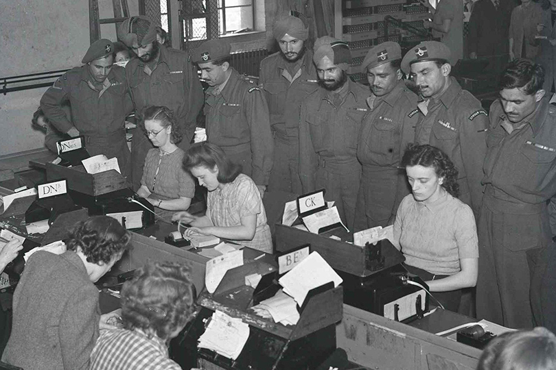 Visit of Indian Royal Corps of Signals, Central Telegraph Office, London. 1946.