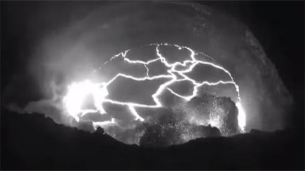 Volcanic explosion caught on camera