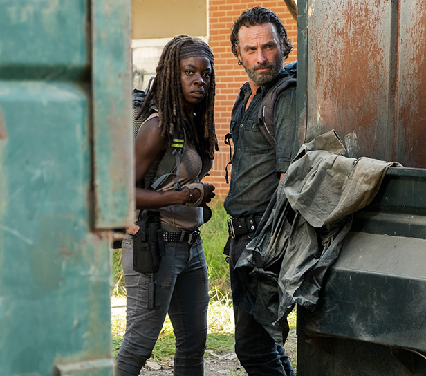 Rick Grimes and Michonne from The Walking Dead