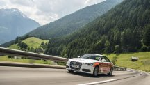 Audi A6 driven by Andrew Frankel and Rebecca Jackson in breaking the most countries driven through on one tank of petrol.