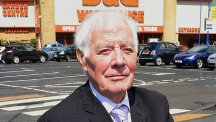Ivor Smith, 82, at the B&Q store in Parkhead, Glasgow