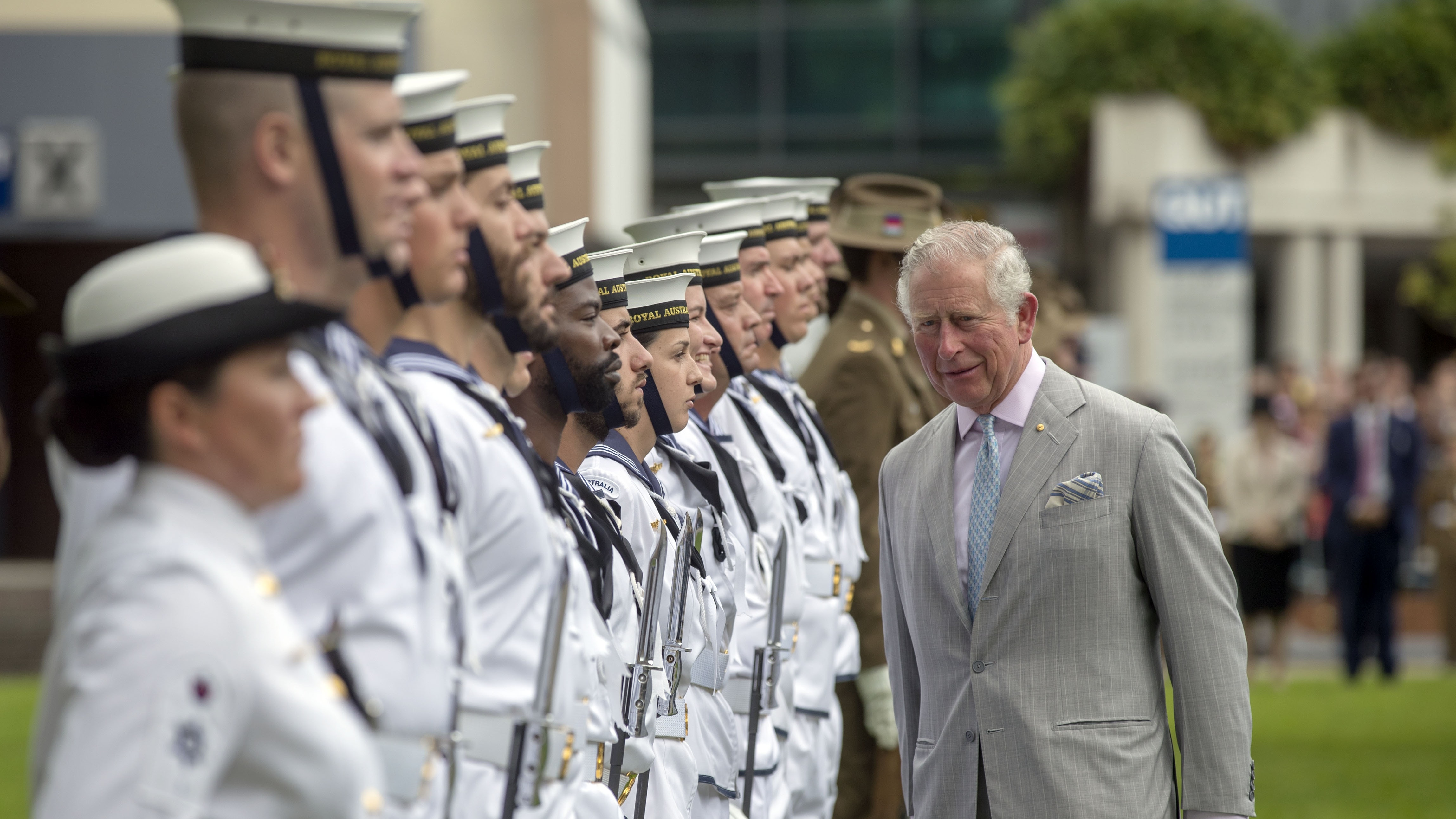Charles and Camilla welcomed at Brisbane before Prince opens Commonwealth Games tonight