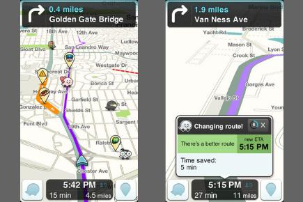 Waze app screenshots