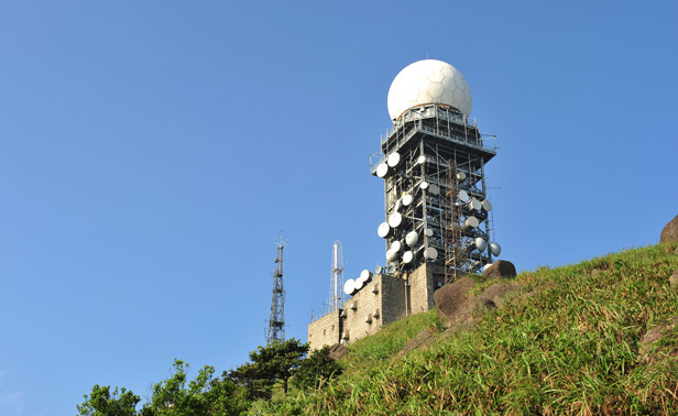 Weather station on hill