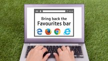 Web browser tips: Bring back the Favourites bar