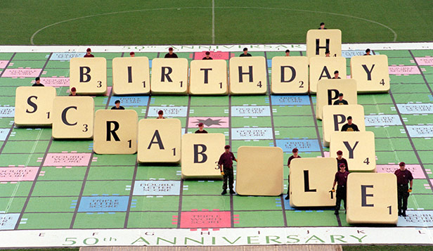 The Army and Navy played a giant game of Scrabble at Wembley Stadium in 1998