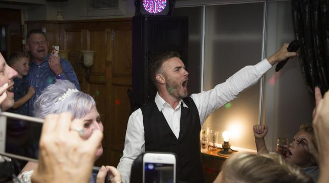 Watch Gary Barlow Turn Wedding Singer And Surprise A On Their