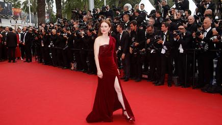 Actress Julianne Moore on the red carpet at the Cannes Film Festival