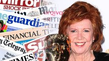 Cilla Black and the front pages from today's papers