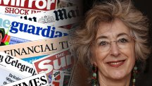 Maureen Lipman and the front pages from today's papers