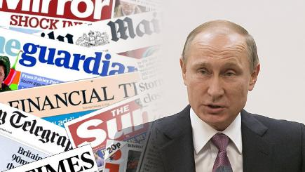 President Putin and the front pages from today's papers