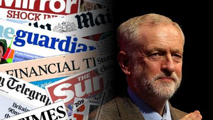 Jeremy Corbyn and the front pages from today's papers