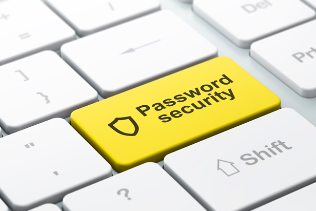 Keyboard with Pasword Security on yellow key