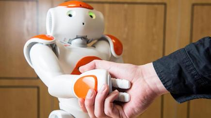 A Nao Robot is designed to be a companion around the house (University of Bath/PA)