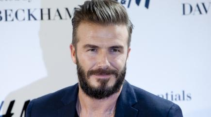 Why did David Beckham shave off his beard?