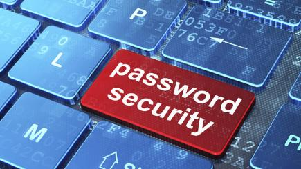 Password security key on keyboard