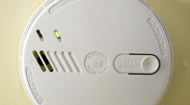 Intermittent alarm from smoke detector