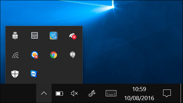 The Taskbar in Windows 10