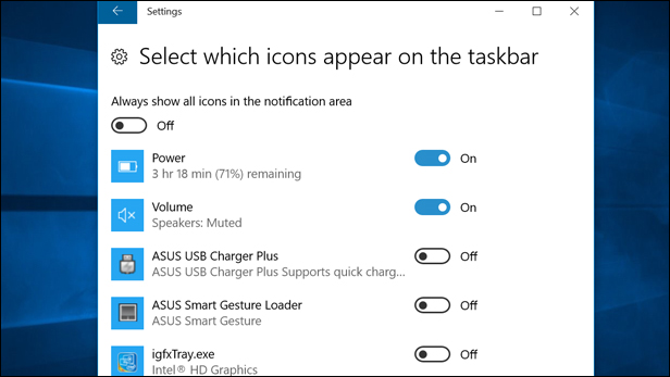 Customising the Taskbar in Windows 10