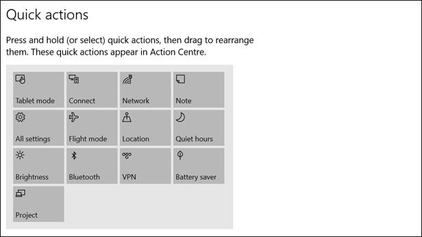 Windows 10 Anniversary Update: Action Center