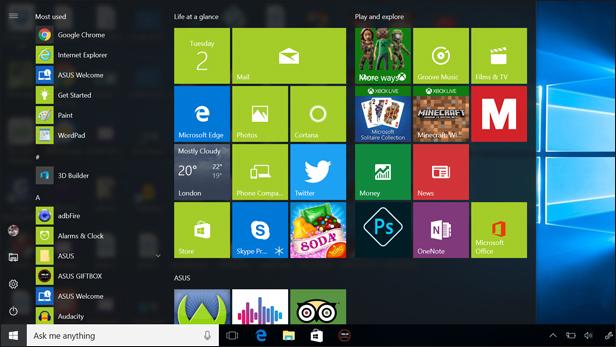 Windows 10 Anniversary Update: Start Menu