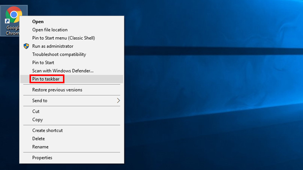 Customise the Windows 10 Taskbar