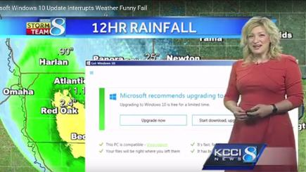 Windows 10 reminder ruins live weather report