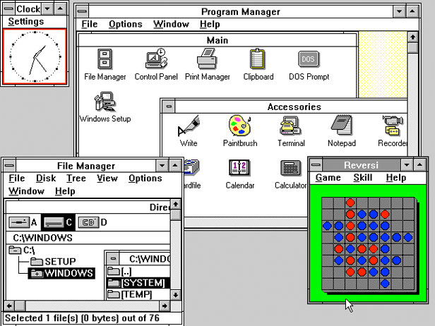 Windows 3 interface