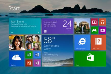 Windows 8 1 start screen screenshot