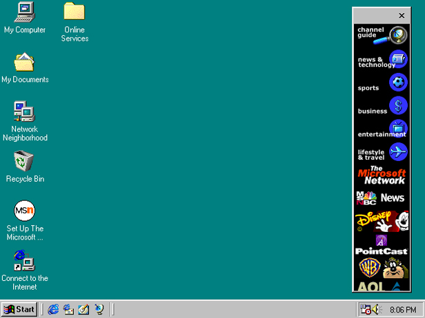 Windows 98 interface