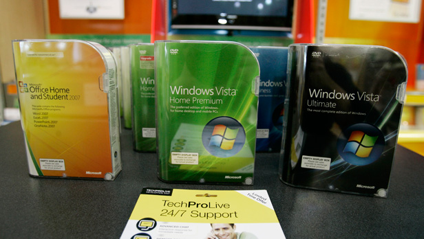 Windows Vista boxes