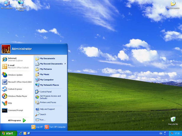 Windows XP interface