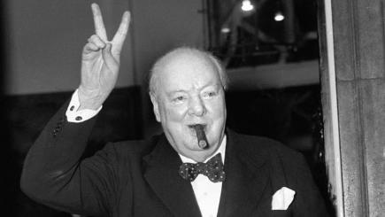 Winston Churchill victory sign