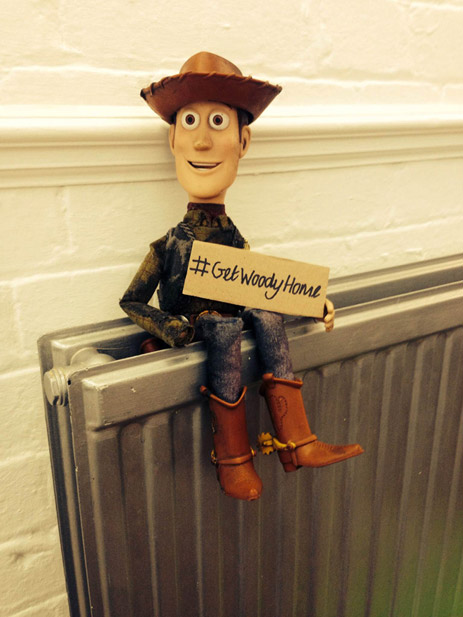 Just like in the plot of 1995 box office hit Toy Story, a Woody doll ...
