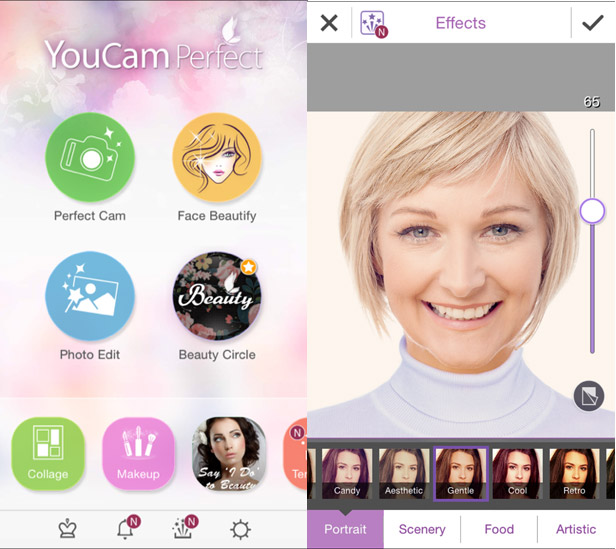 YouCam Perfect app