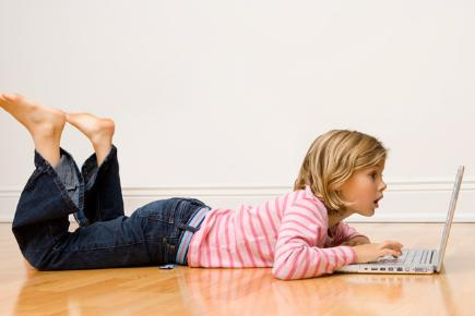 Young girl on laptop