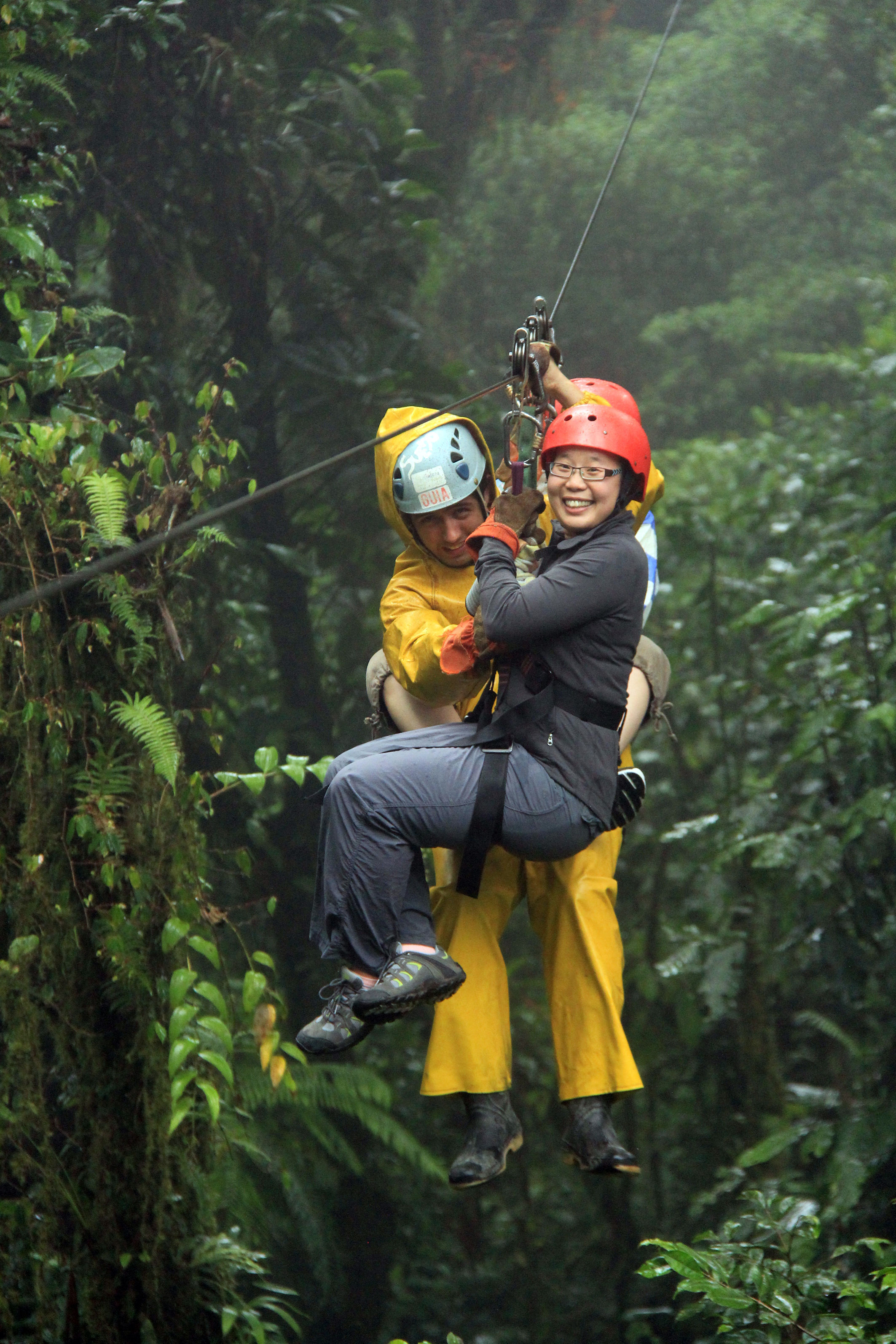 Whizzing through the cloud forest on the zip line canopy tour at Selvatura Park is the most fun way to experience Monteverde