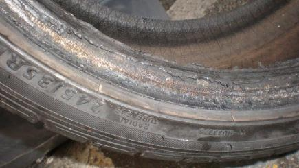 Badly worn tyres can be unsafe