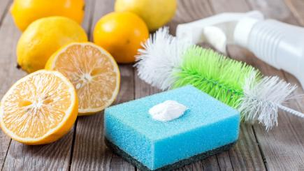 A selection of natural cleaning products