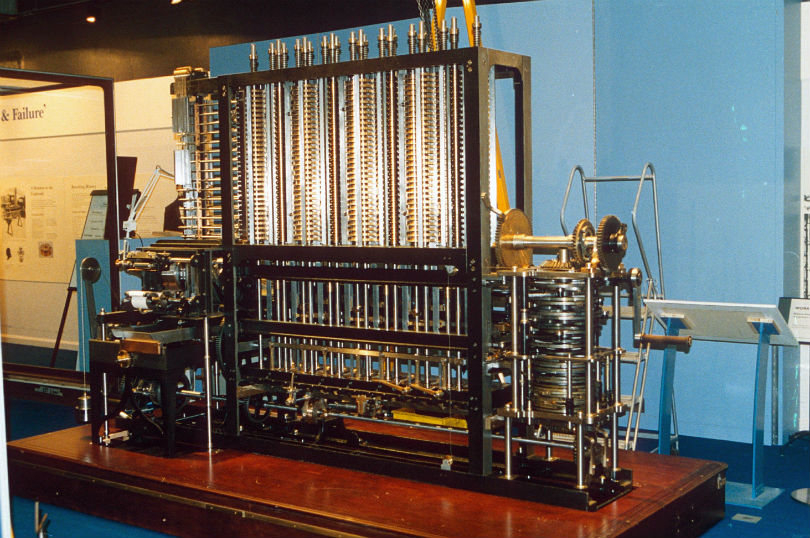 Charles Babbage's Difference Engine no.2 at the London Science Museum. Photo credit: Richard Gardner/REX/Shutterstock