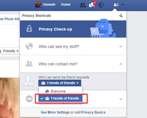 Facebook screenshot Friend Requests