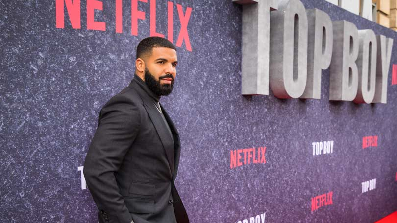 Drake at the Hackney premiere for Top Boy