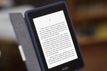 Amazon Kindle Paperwhite in hand